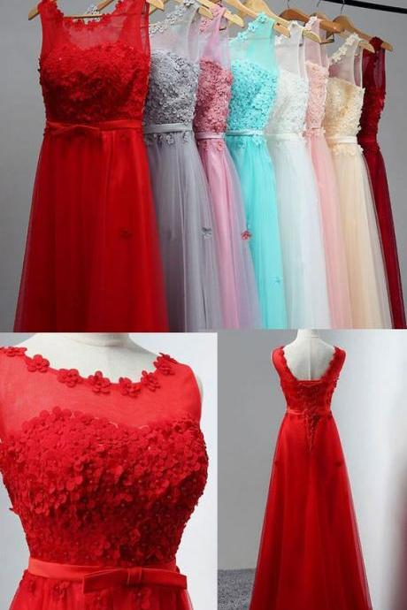 Elegant Red/White Spaghetti Straps Backless Long Prom Dresses Evening Dresses with Beaded B1239