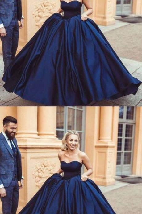 navy blue prom dresses, long prom dresses, ball gowns prom dresses, womens prom dresses B1370